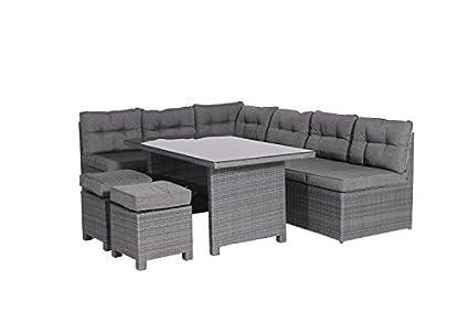 Enjoyable Garden Impressions 03640Gy Lounge Dining Set Earl Grau 237 X 174 X 75 Cm Frankydiablos Diy Chair Ideas Frankydiabloscom