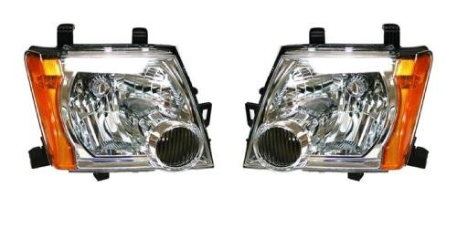 (Go-Parts PAIR/SET OE Replacement for 2005-2015 Nissan Xterra Front Headlights Headlamps Assemblies Front Housing/Lens / Cover - Left & Right (Driver & Passenger) for Nissan Xterra)