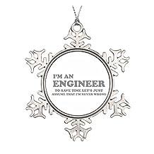 I'm an Engineer Ceramic Round Christmas Ornament