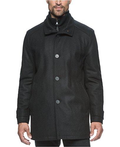 Marc New York Andrew Marc Men's Wool-Blend Knit-Bib Car Coat (S, (Tall Car Coat)