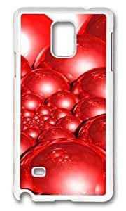 Adorable Doyle Spiral Red 3D Hard Case Protective Shell Cell Phone For Case Samsung Note 4 Cover - PC White