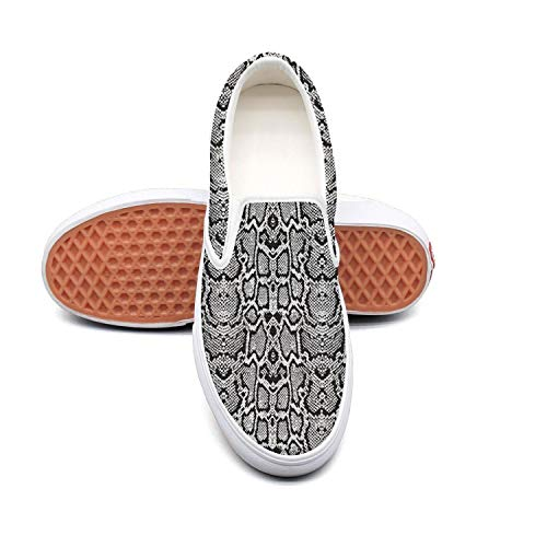 Price comparison product image Black and white animal texture Non Slip Shoes for Women Sneakers (Slip-On)