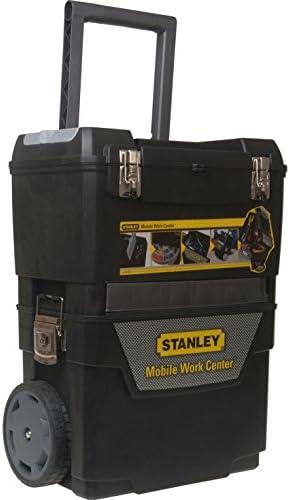 Advanced Stanley Rolling central de trabajo caja de herramientas con ruedas negro [unidades 1] con Min 3 años Cleva garantía: Amazon.es: Bricolaje y herramientas