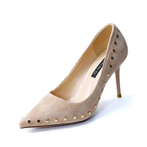 Yukun Schuhe mit hohen Absätzen Personifizierte Niete die hohe Absätze Frühling und Sommer abnimmt wies Stiletto-Arbeitsplatz-Pendlerschuhe zu