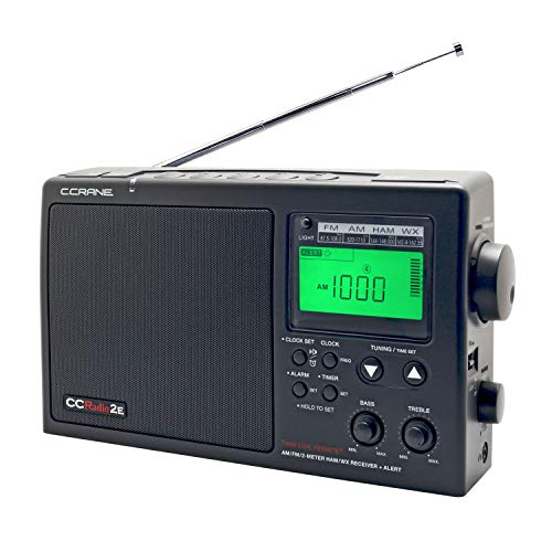 C. Crane CCRadio-2E Enhanced Portable AM FM Weather and 2-Meter Ham Band (Black) CC2BE