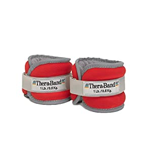 TheraBand Comfort Fit Ankle & Wrist Cuff Wrap Walking Weights Set, Adjustable Wrist Weights and Ankle Weights for Home Workout, Ankle Strengthening, Physical Therapy, and Toning Workouts