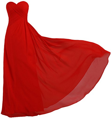 ANTS Women's Strapless Long Bridesmaid Dresses Chiffon Wedding Prom Gown