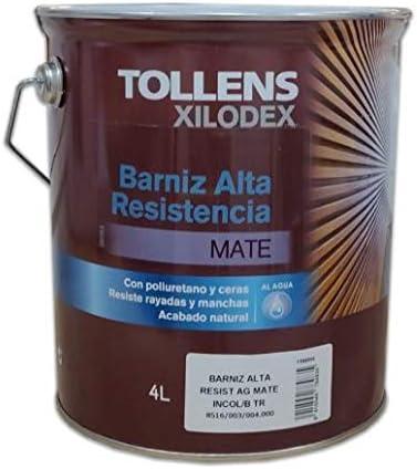 TOLLENS - BARNIZ ALTA RESISTENCIA AL AGUA MATE INTERIOR 4 LT ...
