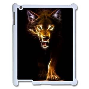 Custom Colorful Case for Ipad 2,3,4, Fire Wolf Cover Case - HL-R663056