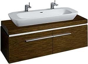 Lavabo mueble de baño Keramag Silk 816041 140 x 40 cm x47cm acabado en madera de wengué Pangar 81604