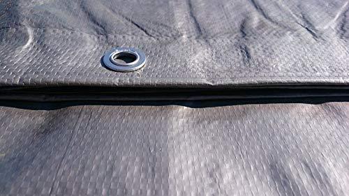 17,8/x 25,4/cm B/âche 2/x 3/m Ultra r/ésistant Housse de drap B/âche /étanche Argent