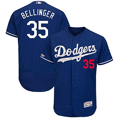 Men's #35 Los Angeles Dodgers Cody Bellinger Royal Fashion Collection Flex Base Player Jersey Blue (XL)