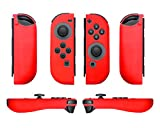 Silicone Cover Skins for Joy-Con Controller - Compatible with Nintendo Switch (Neon Red) | Anti Slip | Soft Top Quality Silicone | Ergonomic Design