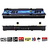 3D Pandora's Key Retro Home Arcade Game Console   No Games Pre-loaded   Full HD (1920x1080) Video   2 Player Game Controls   Support 4 Players   Add More Games   HDMI/VGA/USB/AUX Audio Output