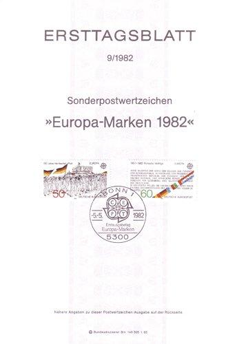 Goldhahn BRD Ersttagsblatt 9/1982 auf dünnem Papier Briefmarken für Sammler