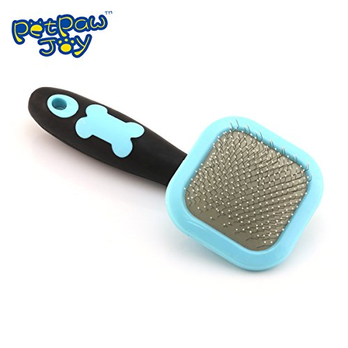 PETPAWJOY TOP SLICKER BRUSH Cleaning Slicker Brush Removeing Mats And Tangles Pet Grooming Deshedding Brush Shedding Pet Fur Rotatable Pet Massager Providing Massage Service For Your Pet