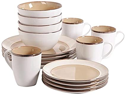 Gibson Home Studio 97948.16r Amberwood 16-Piece Dinnerware Set Taupe  sc 1 st  Amazon.ca & Gibson Home Studio 97948.16r Amberwood 16-Piece Dinnerware Set ...
