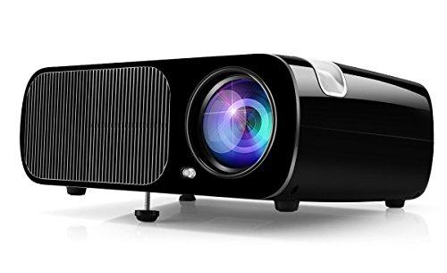 HD Video Projektor, Ogima Heimkino Projektor BL20, 2600 Lumen LCD Projektor Unterstützt 1080P Full HD VGA / HDMI / USB / SD / AV Eingang