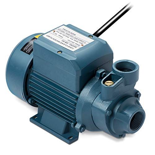 Tooluxe 50635 Electric Centrifugal Clear Water Pump, 0.5 HP | Pools, Ponds, Irrigation, Garden, Sprinkling | 380 GPH ()