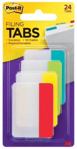 post-it-tabs-2-inch-solid-assorted-primary-colors-6-tabs-color-4-colors-24-tabs-pack