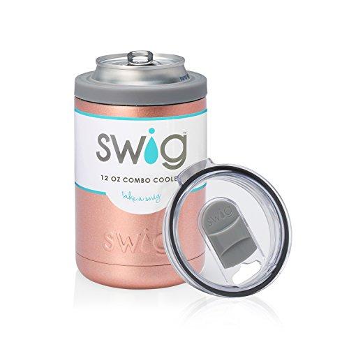 Swig 12oz Combo Cooler-Rose Gold