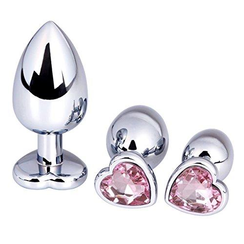 GSSQ.I Luxury Gem Heart Jeweled Stainless Steel Anal Stopper Butt Stopper -