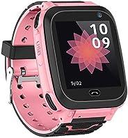 Relógio Inteligente Infantil Qalabka com Compartimento para Cartão SIM, 1,44 polegadas, IPX7, Tela de Toque Im
