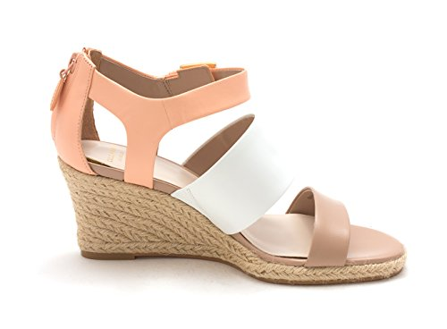Cole Haan Womens Phoebesam Open Toe Casual Platform Sandals Taupe/White/Coral bV24racx