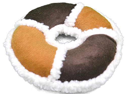 Amazing Pet Products 2-Tone Sherpa Plush Dog Toy, Ring