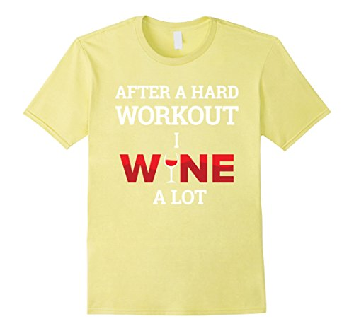 Running Pun Costumes (Mens After A Workout I Wine A lot | Funny Cute Wine Party Tshirt 3XL Lemon)