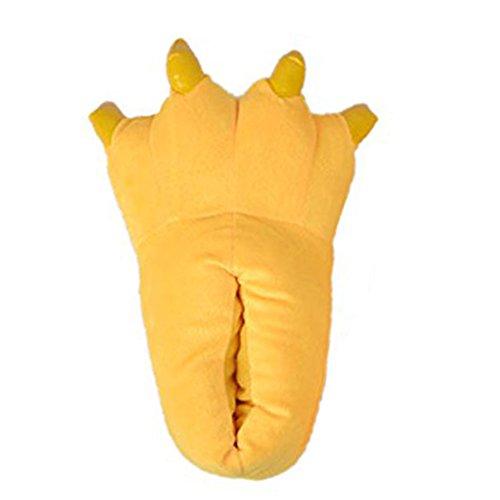 LATH.PIN Zapatillas de casa animales Halloween Cosplay Dark Yellow