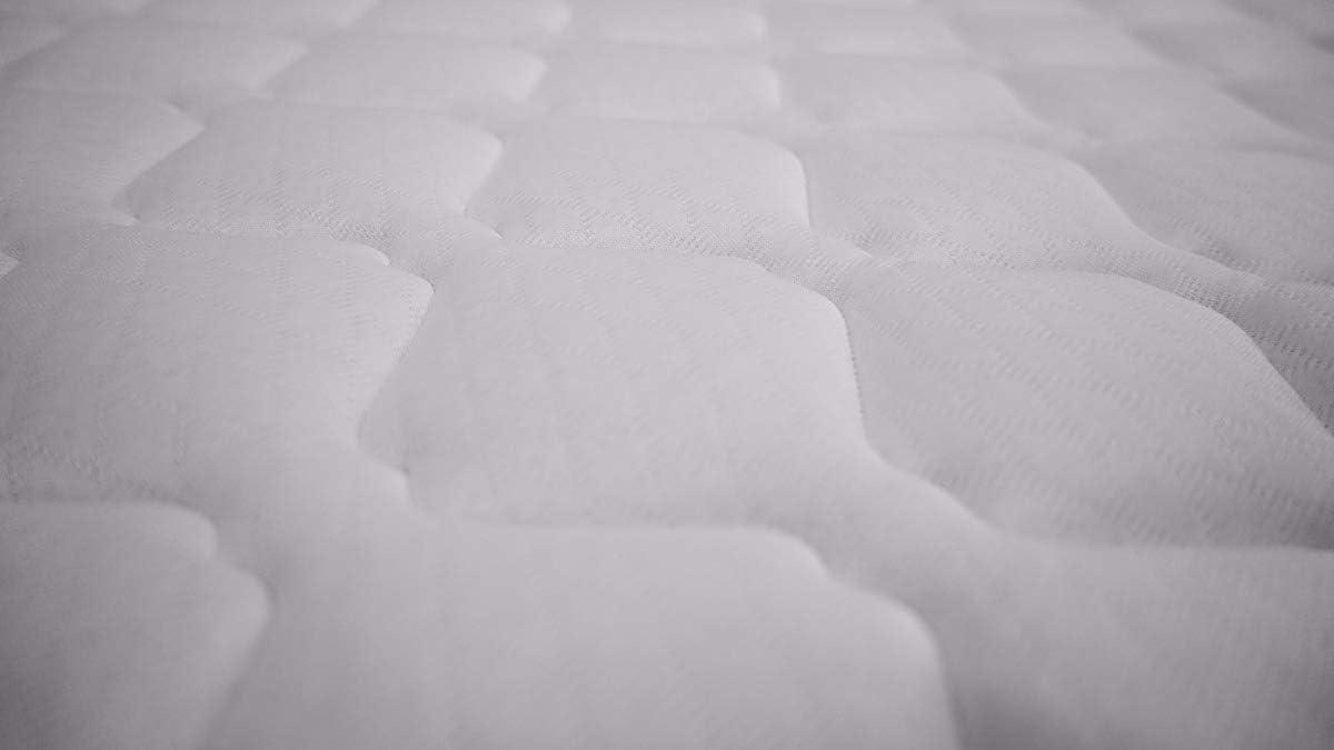 80 x 180 x 15 cm Du/érmete cara invierno//verano Colch/ón Viscoelastico Juvenil Viscopeque Reversible