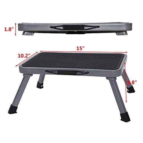 Ollieroo Step Stool Portable Lightweight Folding Steel