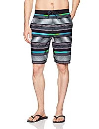 "Speedo Ingrain Stripe E-Board 21"" Workout Shorts & Swim Trunks"