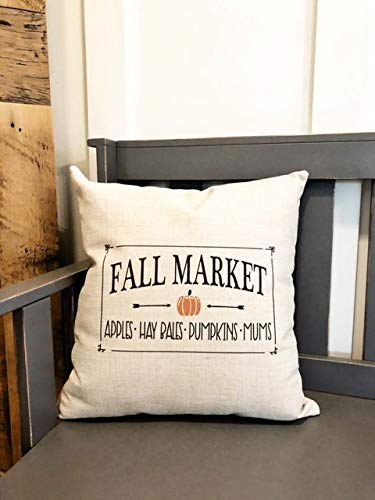 Amazon.com: Fall Market Pillow Cover Fall Decor Fall Pillow ...