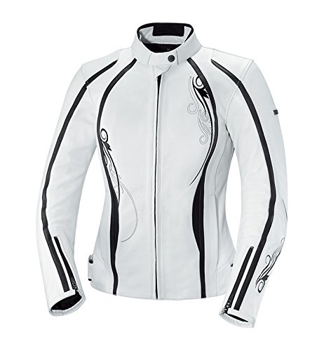 (IXS Women's Kiara Jacket (White/Black, Large/Size 10) )