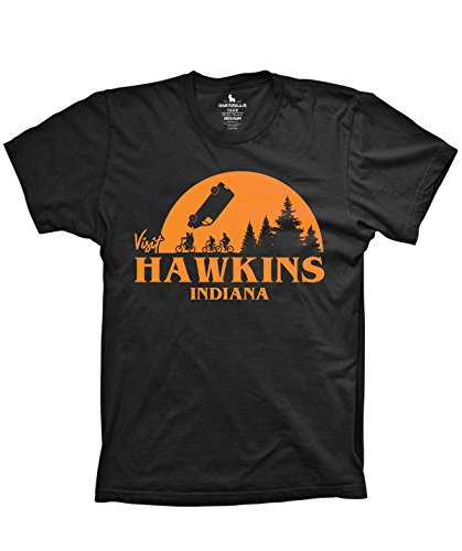 Guerrilla Tees Visit Hawkins Indiana Shirt Funny Movie Tshirts Horror Early, X-Large