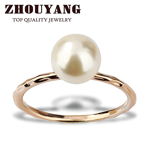 Slyq Jewelry OL L Style Pearl cz engagement ring