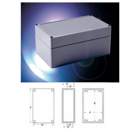 BUD Industries PNR Series ABS NEMA 4X Indoor Box PNR-2601-C
