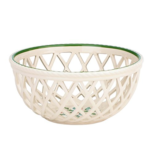 Lenox Holiday Open Weave Bread Basket,Ivory
