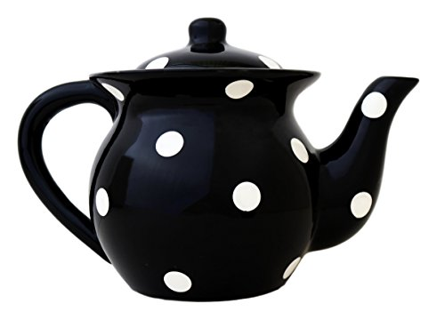 Viva Collection, BLACK, Polka Dot Teapot 6