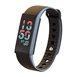 CESSBO X6S Color OLED Touch Screen Women Men Smart Bracelet Watch Healthy Fitness Smart Tracker Intelligent Band Heartrate Blood Pressure Oxygen Oximeter Sport Bracelet for Ios Android Phone Black