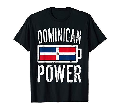 Dominican Republic Flag Shirt Dominican Power Battery Proud