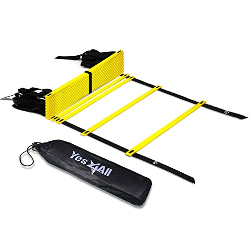 Round Rung (Yellow 20-Rung 25 feet Durable Agility Ladder - ²C1KKZ)