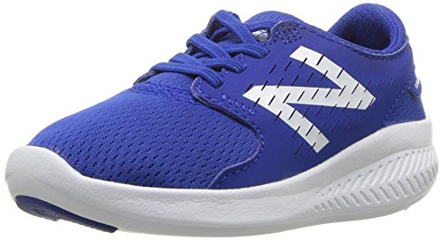 New Balance Boys' Coast V3 Hook and Loop Road-Running-Shoes, BLUE/WHITE, 9 Medium US Infant