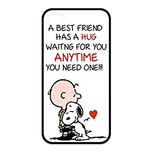 6 plus Case, iPhone 6 plus Case - Fashion Style New Snoopy Painted Pattern TPU Soft Cover Case for iPhone 6 plus(Black/white)