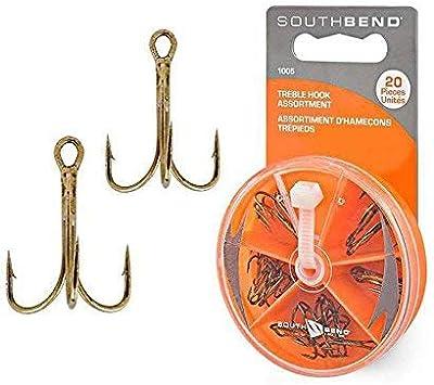 50 PCS Gold Treble Hooks 2 Pack Of 25 Brand New South Bend Fishing Size 14