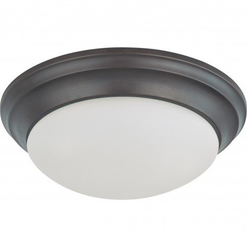 (Satco 62-789 24W LED 14 inch Dimmable Mahogany Bronze Ceiling Flush Mount Fixture)