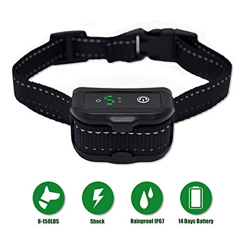 Bark Collars.NUOGAO Training no bark Collar beeping/Vibration/Non-Impact Shock Rechargeable Small Medium Large Dogs of All Breeds (Black) Review
