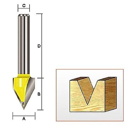 Kempston 204041 Round Nose Bit 1//4-Inch Shank 3//8-Inch Cutting Diameter by 1//2-Inch Cutting Length